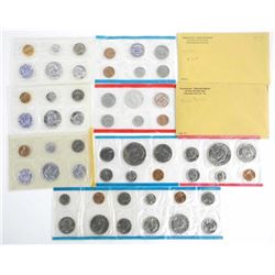 Group of (8) USA Mint Sets UNC Mixed with Silver