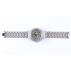 NEW Custom Unisex Quartz Watch Micro Pave Set with