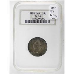 1872H Canada 25 Cent ICG. EF45 (IXR)