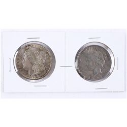 Lot (2) USA Silver Dollars 1921 and 1922