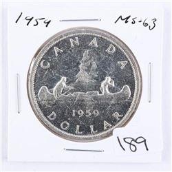 Canada 1959 Silver Dollar. MS63.