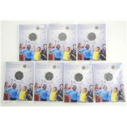 Lot (7) Royal Mint 50 Pence 100 Year - Girl Guides