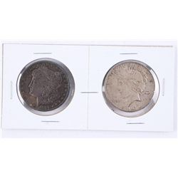 Lot (2) USA Silver 1889 and 1926