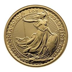 Great Britain .9999 Fine Gold 1oz Round. Collector
