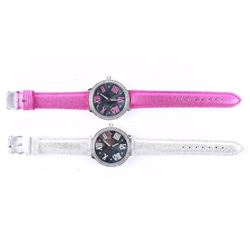 Lot (2) Ladies New Quartz Watches with Swarovski E