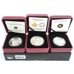 Grouping (3) Royalty Coins .9999 Fine Silver $15.0