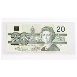 Bank of Canada 1991 Twenty Dollar Note. Choice UNC