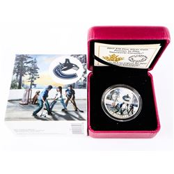 Vancouver Canucks Logo .9999 Fine Silver $10.00 Co