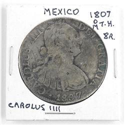 MEXICO 1807 M.T.H. 8R Carolus IIII