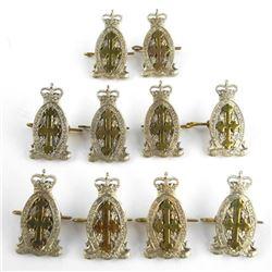 Lot (10) Queen's Crown Le Regt. De Chateauguay Sle