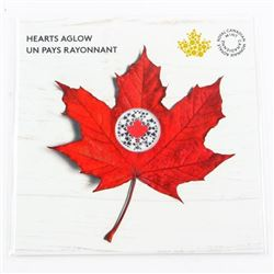 Hearts A GLOW .9999 Fine Silver $5.00 Coin - Folio