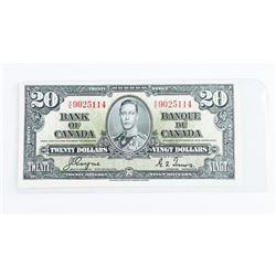 Bank of Canada 1937 20.00 BC-25c GEM UNC. (CXR)
