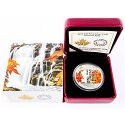 .9999 Fine Silver $20.00 Coin 'Autumn Falls' LE/C.