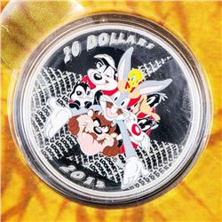 .9999 Fine Silver $20.00 Coin 'Looney Tunes' 'Merr