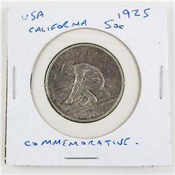 USA 1925 Commemorative 50 Cent Coin California