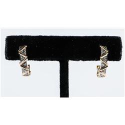 Estate 14kt Gold Diamond Set Earrings (3.66grams)
