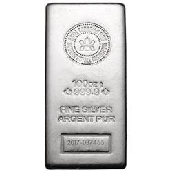 Royal Canadian Mint .9999 Fine Silver 100oz Bar. S