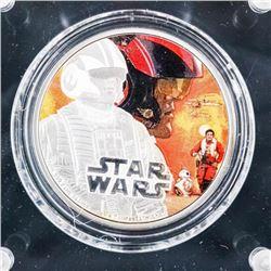 Disney .9999 Fine Silver Star Wars Coin 'Poe Damer