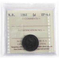 1861 NB 1/2 Cent EF40. ICCS (EXR)