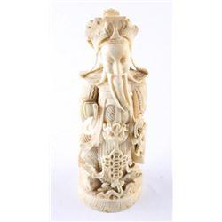 """Estate Hand Carved Temple God Sculpture 4.5"""""""