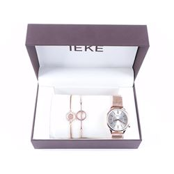 Ladies Watch and Jewellery Set - Rose Gold