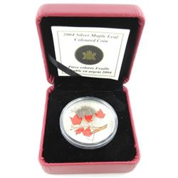 2004 - .9999 Fine Silver Maple Leaf Coin Red