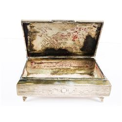 Estate .800 Fine Sterling Silver Covered Box - All