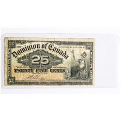 Dominion of Canada Jan 1900 - Boville 25 Cent Note