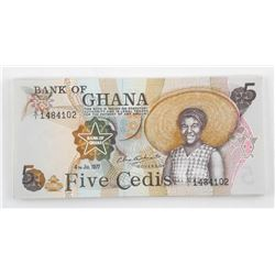 Lot (26) Bank of 'GHANA' 1977 5-CEDIS In Sequence