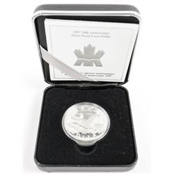 1997 Silver Proof Loon Dollar 1987-1997 with C.O.A