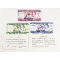 Soloman Islands - Specimen Note Set. Scarce