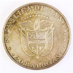 Panama 1971 - 20 Balboa 925 Silver Coin 129 grams