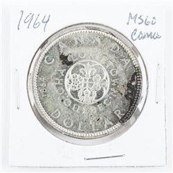1964 CANADA Silver Dollar MS60. Cameo