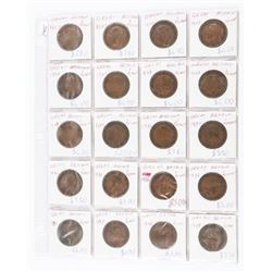 Estate Lot (20) Great Britain Large Penny