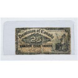Dominion of Canada 1900 - 25 Cent Note 'Boville'