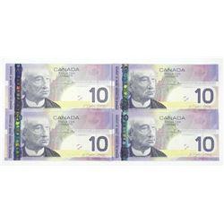 Lot (4) 2005 Bank of Canada Ten Dollar Note. Choic