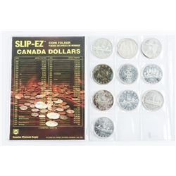 Group (10) Canada Silver Dollars Includes 1937