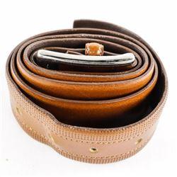 Estate Fabio Carti - ITALY Leather Belt, Size 34