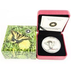 Canada 2013 $20.00 .9999 Fine Silver Coin 'Butterf