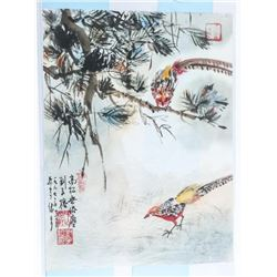 """Original Painting - 12x16"""" on Rice Paper Signed"""