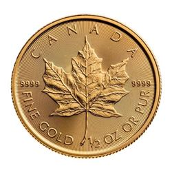 2020 Royal Canadian Mint Half Ounce Fine Gold Mapl