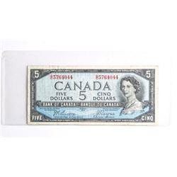 Bank of CANADA 1954 5.00 Devil's Face. Beattie Coy