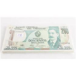 Estate Lot (50) BANCO Uruguay 200.00 in sequence