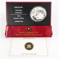 .9999 Fine Silver $20.00 Coin 'Tall Ships' with C.