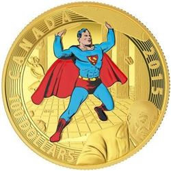 14KT GOLD - $100 SUPERMAN #4 (1940): ICONIC SUPERM