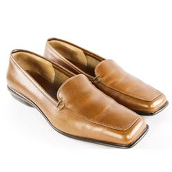 Salvatore Ferragamo NEW Slip on Shoes - TAN Size 7