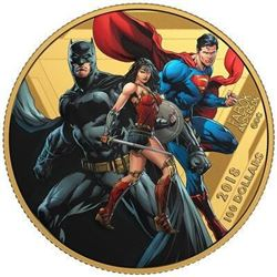 14KT GOLD $100 THE JUSTICE LEAGUE: UNITED WE STAND