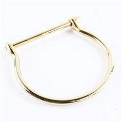 18kt Gold Plated/Stainless Steel Bangle, Bar