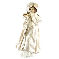 Estate Antique Doll with Stand