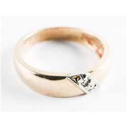 Estate 10kt Gold 2 DiamondBand Ring. Size 6.5